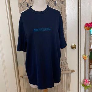 Nike blue and white athletic shirt size large
